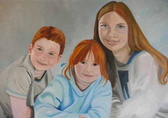 Family portrait (from photograph) commission